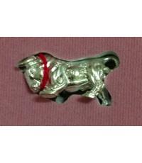 วัวธนูกระทิงเถื่อน รุ่นแรก หลวงปู่นิ่ม วัดพุทธมงคล สุพรรณบุรี เนื้อเงิน