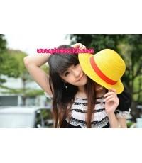 หมวกฟางลูฟี่ หมวกลูฟี่ หมวกวันพีช Lufi cap
