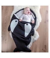 ถุงนอนเด็กรูปปลา สีดำ