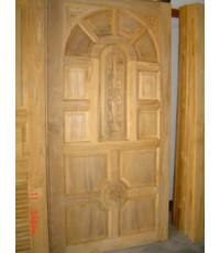 บานประตูไม้สัก แบบ 14