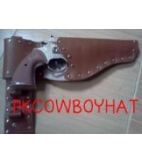 เข็มขัดซองปืนหนัง PU พร้อมปืนแก๊บ(ใส่กระสุนได้)สำหรับเด็ก