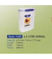 กล่องล็อกใส่ธัญพืชขนาดบรรจุ 4.2 ลิตร