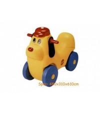 รถหมาน้อยดุ๊กดิ๊ก รถขาไถรูปหมาสีเหลือง เด็กชอบมาก