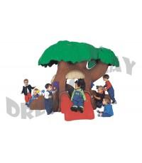 บ้านโพรงต้นไม้ ต้นไม้สไลเดอร์เด็กเล่น DT-PG820 บ้านของเล่นเด็กต้นใหญ่มาก