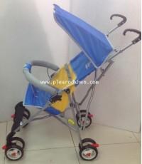 รถเข็นเด็กก้านร่ม 8 ล้อ น้ำหนักเบา Happy Baby สีฟ้า 5181