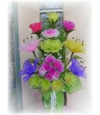 แจกันดอกไม้ผ้าใยบัว