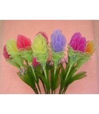 ดอกไม้ผ้าใยบัวกระเจียว(บัวสวรรค์)