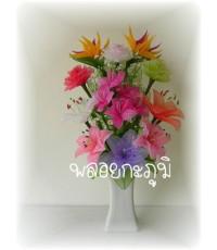 ผ้าใยบัว (แจกันดอกไม้ 1)