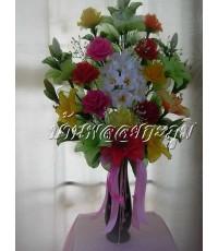แจกันดอกไม้ผ้าใยบัว 3