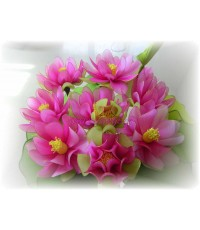 ดอกไม้ผ้าใยบัว ดอกบัวสาย (ชุด)