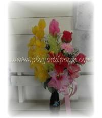 แจกันดอกไม้ผ้าใยบัว 6