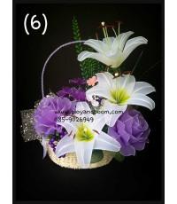 กระเช้าดอกไม้ชุดที่ 6(งานสั่งทำ)