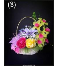 กระเช้าดอกไม้ชุดที่ 8(งานสั่งทำ)