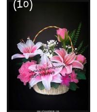 กระเช้าดอกไม้ชุดที่ 12(งานสั่งทำ)