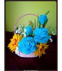 กระเช้าดอกไม้ชุดที่ 19(งานสั่งทำ)