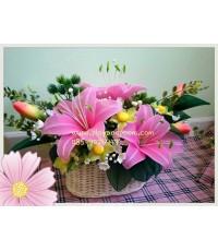 กระเช้าดอกไม้ชุดที่ 20(งานสั่งทำ)