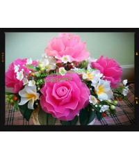 กระเช้าดอกไม้ชุดที่ 21(งานสั่งทำ)