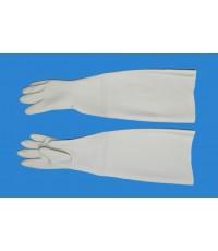 ถุงมือยางพาราสีเทายาว25นิ้ว