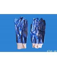 ถุงมือไนไตรสีน้ำเงิน