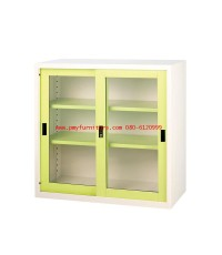 pmy14-4 ตู้บานเลื่อนกระจก สีสัน