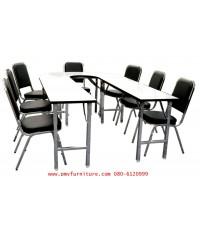 pmy6-2 ชุดโต๊ะเก้าอี้ประุชม STB 212