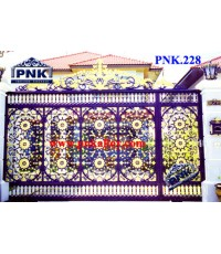 PNK.228 ประตู **ลายดอกทานตะวัน**