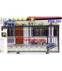 PNK.331 ประตู **ลายเรือนไทย ชั้นเดียว**