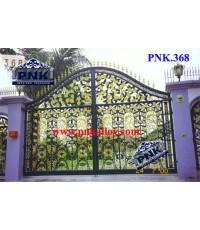 PNK.368 ประตูอัลลอย **ลายดอกกุหลาบ**