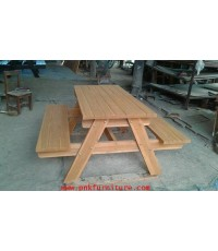 เก้าอี้สนาม,ม้านั่งสนาม, โต๊ะสนามไม้สัก kkw14-12