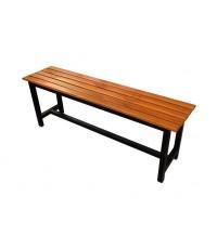 เก้าอี้สนาม,ม้านั่งสนามไม้สักทองตีระแนง ไม้หน้า 2 นิ้ว ยาว 1.20เมตร kkw14-1