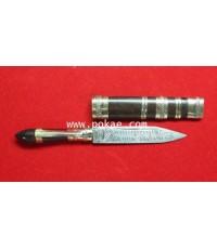 มีดหมอปากกาด้าไม้ รุ่น2 (ขนาด 5 นิ้ว) หลวงพ่อบุญมี วัดม่วงคัน จ.อ่างทอง