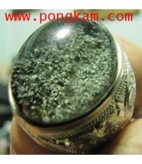 (ขายแล้วครับ) แหวนแก้วปวกเขียว ปวกเข้ม ปวกเขียวขึ้นเต็มเม็ด สวยระดับพรีเมี่ยม ขนาดหัวแหวนชาย  1.8*