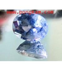 (ขายแล้วครับ) พลอยสด แซฟไฟร์สีม่วง แอฟริกา น้ำงามสีหวาน Violet Sapphire(Afica) หัวแหวน หนัก1.35กะรัต