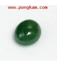 (ขายแล้วครับ) หยกพม่าแท้เนื้อสวย สีเขียวเข้มธรรมชาติ เนื้อโปร่งแสง ขนาดหัวแหวน ญ ขนาด 0.9 x 1.2 cm.
