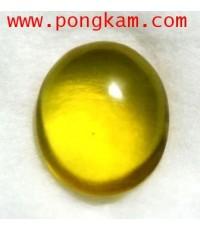 อำพันแท้สีเหลืองเข้ม(น้ำผึ้ง) เนื้อใสสะอาดติดแร่ หนัก3 กะรัต Deep Yellow Amber จากประเทศโดมินิกัน