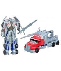 ซิลเวอร์ไนท์ ออพติมัสไพร์ม Flip and Change Transformer Silver Knight Optimus Prime AOE