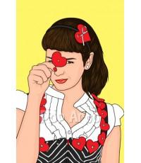 Pop Art Lichtenstein Style 1 person