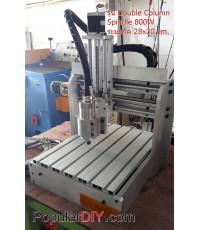เครื่อง CNC แบบ 3 แกน 28*30 แบบ Double Column