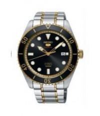 นาฬิกาผู้ชายไซโก้ SEIKO ระบบ automatic รุ่น SRPB94K สีดำทอง ทรงกลม ของแท้ประกัน 1 ปี