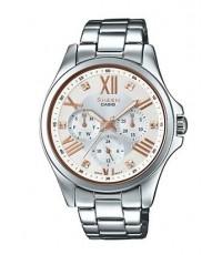 นาฬิกาผู้หญิง SHEEN รุ่นพิเศษ SHE-3806D-7B สายสแตนเลสสีเงิน