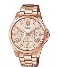 นาฬิกาผู้หญิง SHEEN รุ่นพิเศษ SHE-3806PG-9A สายสแตนเลสสีโรสโกล์ด