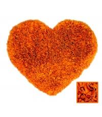พรมหัวใจ สีส้ม Size M