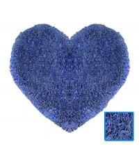 พรมหัวใจ สีฟ้า Size M