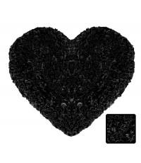 พรมหัวใจ สีดำ Size M