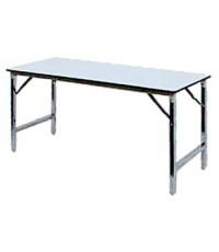 โต๊ะขาพับ เก็บ/ซ้อนได้ หน้าสี่เหลี่ยม โฟเมก้าขาว