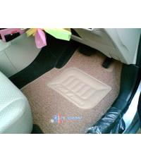 ยางปูพื้นไวนิล-สีน้ำตาลอ่อน เข้ารูปมาตรฐานสากล 100 สำหรับ Toyota-Vios2007-10