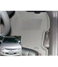 ถาดปูพื้นเข้ารูป ยี่ห้อ 3D รุ่น New Civic กันน้ำ100 นุ่มเท้า ไร้กลิ่น ไม่บวม น้ำหนักเบา