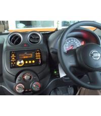 วิทยุ JVC 2Din ติด Nissan March และเครื่องเสียงชุดประหยัด