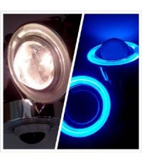 สปอร์ตไลท์หรือไฟใต้กันชน แบบโปรเจคเตอร์ พร้อมวงแหวนไฟหรี่สีฟ้า
