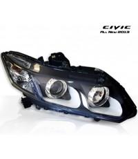 โคมไฟหน้า โปรเจคเตอร์ Honda Civic 2013 Style Japan